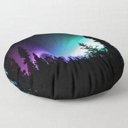 Aurora Borealis Forest Floor Pillow