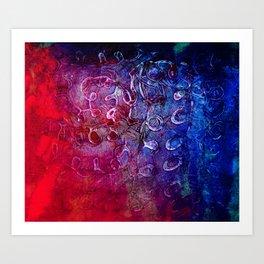 PVA blue Art Print