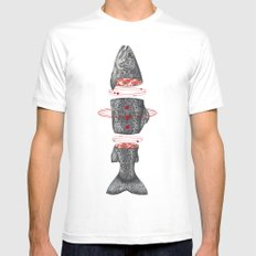 Sashimi II White Mens Fitted Tee LARGE