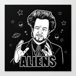 Aliens Guy (Giorgio Tsoukalos) Canvas Print