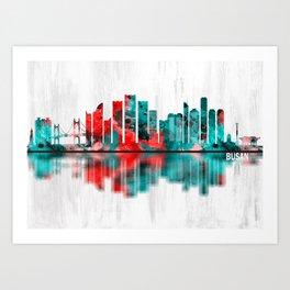 Busan South Korea Skyline Art Print
