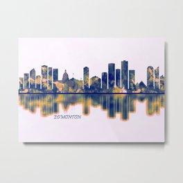Edmonton Skyline Metal Print