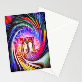 New York Brooklyn Bridge 2 Stationery Cards