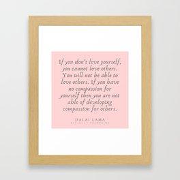 123   | Dalai Lama Quotes 190504 Framed Art Print