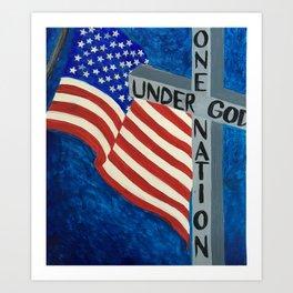 One Nation Under God Art Print
