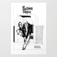Johnny Veins Art Print