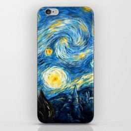 A Starry Night At Hogwarts iPhone Skin