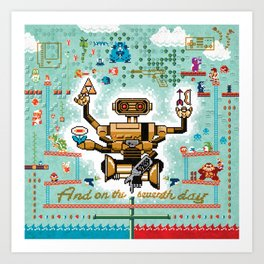 And on the Seventh Day, R.O.B. Rested Art Print