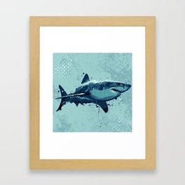 Guppy   Great White Shark Framed Art Print