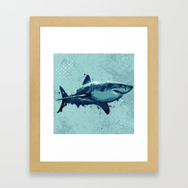 Guppy | Great White Shark Framed Art Print