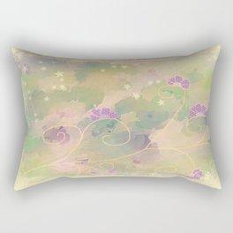 purple flower Texture Rectangular Pillow