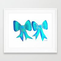bows Framed Art Prints featuring Bows by Samaa Ahmed