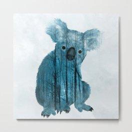 Australian Misty Forest Koala Bear Metal Print