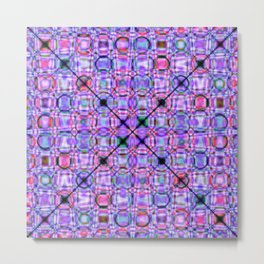 pattern purple 3 Metal Print