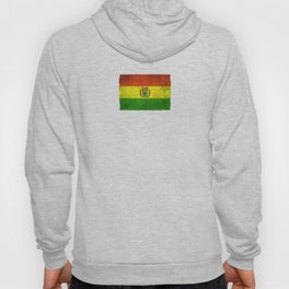 Old and Worn Distressed Vintage Flag of Bolivia Hoody