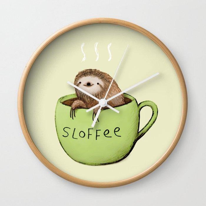 Sloffee Wall Clock