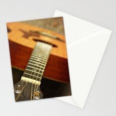 music is the art of thinking with sounds Stationery Cards