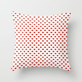 '80s Hearts - Red. Back to Basics Throw Pillow