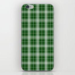 Christmas Tree Green Tartan Plaid Check iPhone Skin