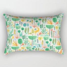 Jungle life with golden unicorn Rectangular Pillow