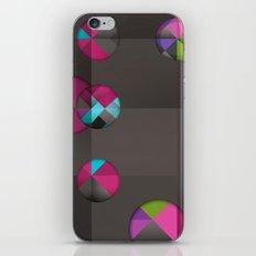 optical illusion black iPhone & iPod Skin