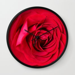 Red Rose Close-up #decor #society6 #buyart Wall Clock