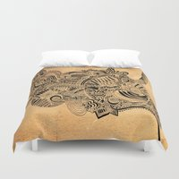 labyrinth Duvet Covers featuring Labyrinth by DuckyB