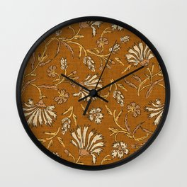 KALAMI FLORAL MUSTARD Wall Clock