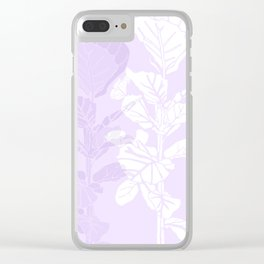 Lavender Block Print Fig Tree Clear iPhone Case