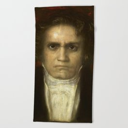 Ludwig van Beethoven (1770-1827) by Franz von Stuck (1863 - 1928)(2) Beach Towel