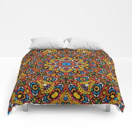 Arabesque kaleidoscopic Mosaic G518 Comforters