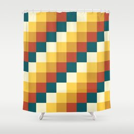 My Honey Pot - Pixel Pattern in yellow tint colors Shower Curtain
