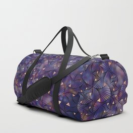 Ultraviolet and Gold Mesh Duffle Bag