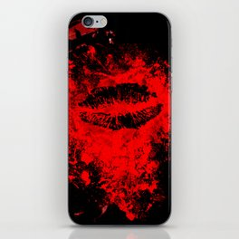 Gothic Bloody Kiss iPhone Skin