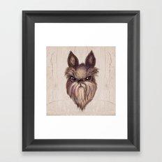 Angry Dog Framed Art Print