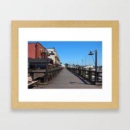 Harborwalk View Framed Art Print