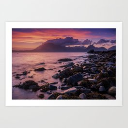 Sunset Over the Cuillin II Art Print