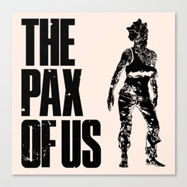 The PAX of Us Black Canvas Print