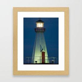Lighthouse at Night Framed Art Print