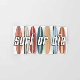 Surf or Die Hand & Bath Towel