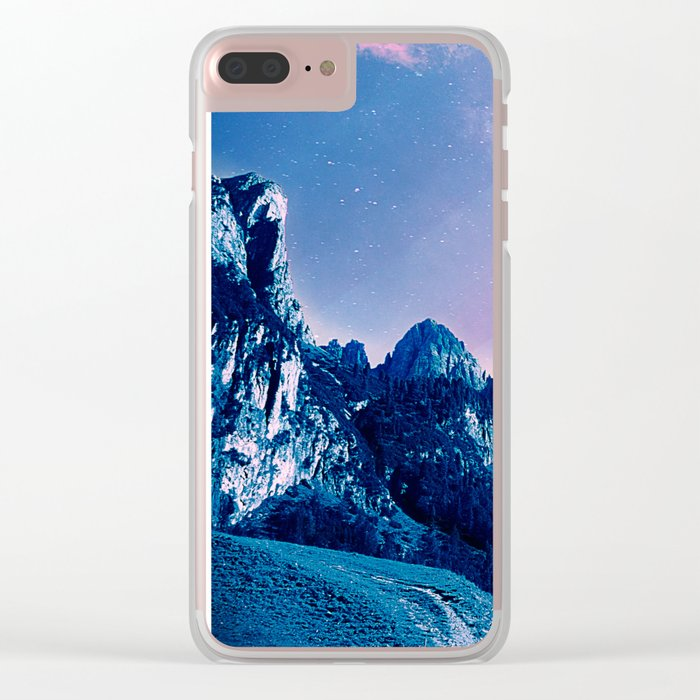 Mountain Magic Clear iPhone Case
