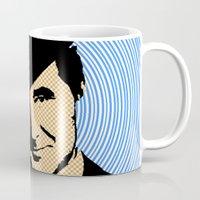 england Mugs featuring Goodmorning England by Joe Ganech