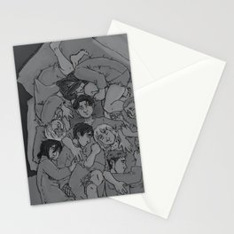 shingeki no cuddle pile Stationery Cards