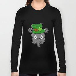 Leprechaun Tapir- St. Patricks Day Long Sleeve T-shirt