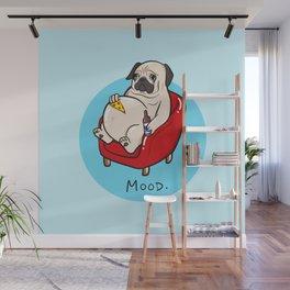 Pug Mood Wall Mural