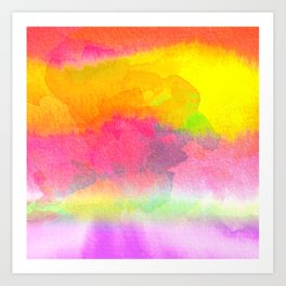 Colorful Watercolor Abstract Art Print