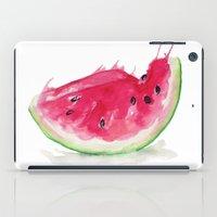 watermelon iPad Cases featuring Watermelon by Bridget Davidson
