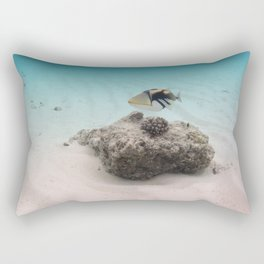 Tropical Maldives White Sand Lagoon Coral Fish Rectangular Pillow