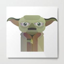 Yoda flat Metal Print