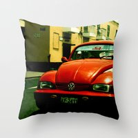 beetle Throw Pillows featuring Beetle by very giorgious